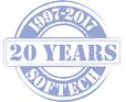 Logo Anniversario 20 anni Softech: 1997-2017